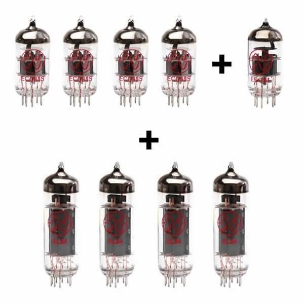 4x ECC83 + 1x ECC81 + 4x EL84 Appairée valve kit