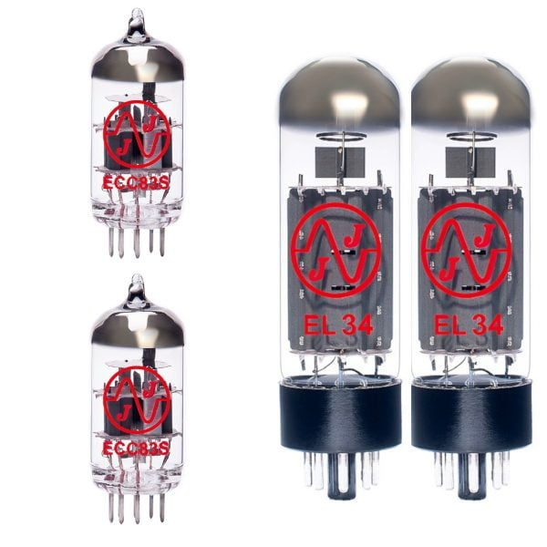 Jeu de lampes de rechange pour Carlsbro Sidewinder 60 (2 x 12AX7 2 x EL34 appairées)