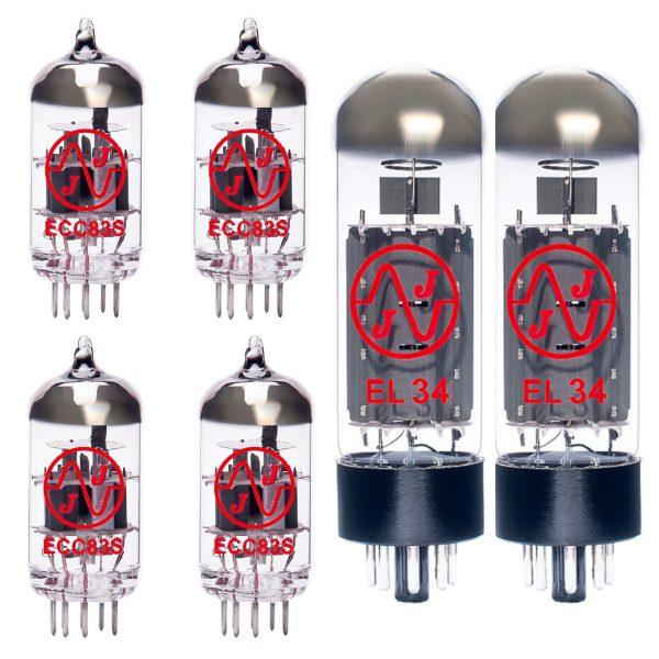Jeu de lampes de rechange pour Carlsbro TC60 (3 x 12AX7 1 x 12AX7 équilibrée 2 x EL34 appairées)