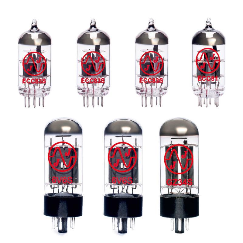 Jeu de lampes de rechange pour Fender Princeton Reverb Reissue '65 - '68 (3 x ECC83 1 x ECC81 2 x Appairée 6V6S)