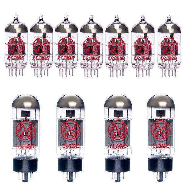 Jeu de lampes de rechange pour Mesa Boogie Electra Dyne (7 x ECC83 4 x Appairée 6L6GC)