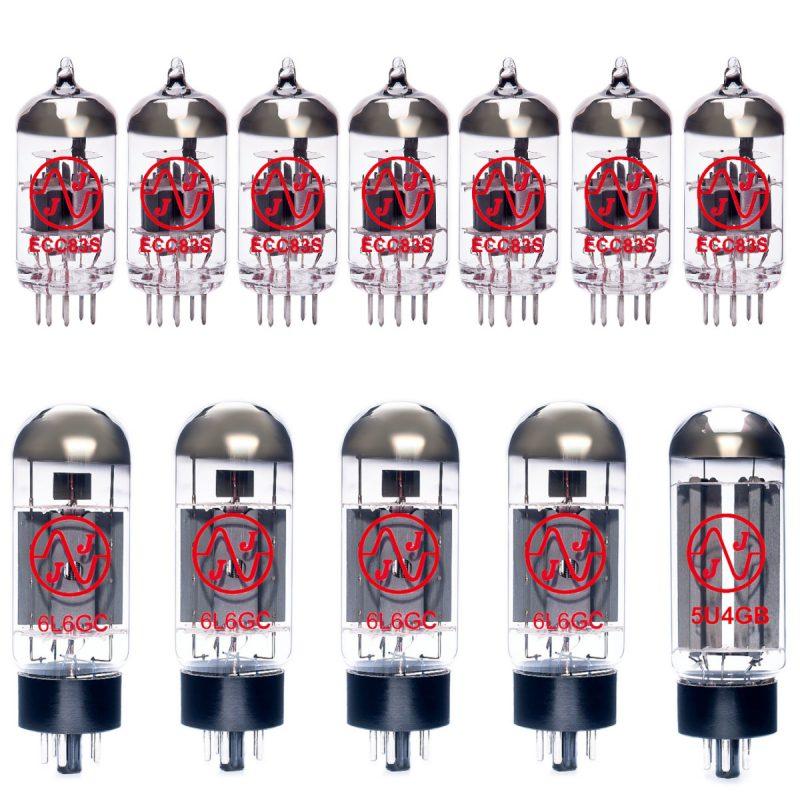 Jeu de lampes de rechange pour Mesa Boogie Mark V (7 x JJ ECC83 4 x JJ Appairée 6L6GC 1 x JJ 5U4GB)