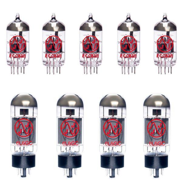 Jeu de lampes de rechange pour Soldano Decatone (4 x 12AX7 1 x 12AX7 équilibrée 4 x 6L6GC appairées)