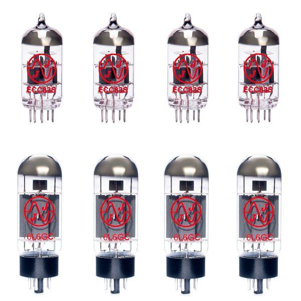 Jeu de lampes de rechange pour Soldano Hot Rod 100 Avenger (3 x 12AX7 1 x 12AX7 équilibrée 4 x 6L6GC appairées)