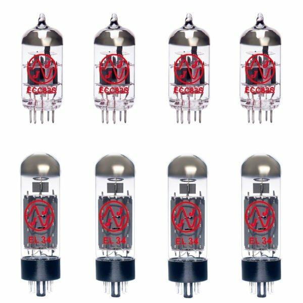 Jeu de lampes de rechange pour Vox AC100CPH (4 x ECC83 4 x Appairée EL34)
