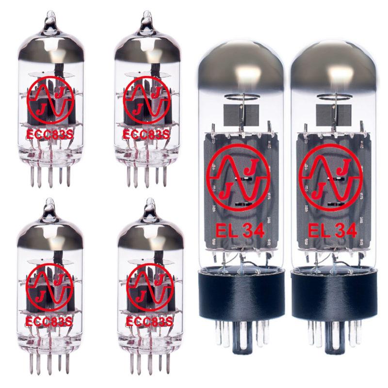 Jeu de lampes de rechange pour Vox NT50H-G1 (3 x ECC83 1 x équilibrées ECC83 2 x appairée EL34)