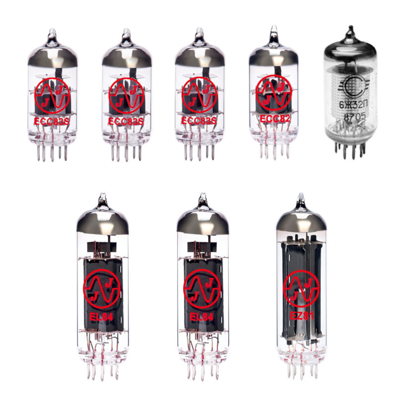 Jeu de lampes de rechange pour Vox AC15HW60 (3 x ECC83 1 x ECC82 1 x EF86 2 x Appairée EL84 1 x EZ81)