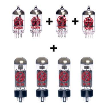 Jeu De Lampes De Rechange Pour Vox V125 Bass Head (1 X Ecc81 1 X Ecc82 2 X Ecc83 4 X Appairée El34)