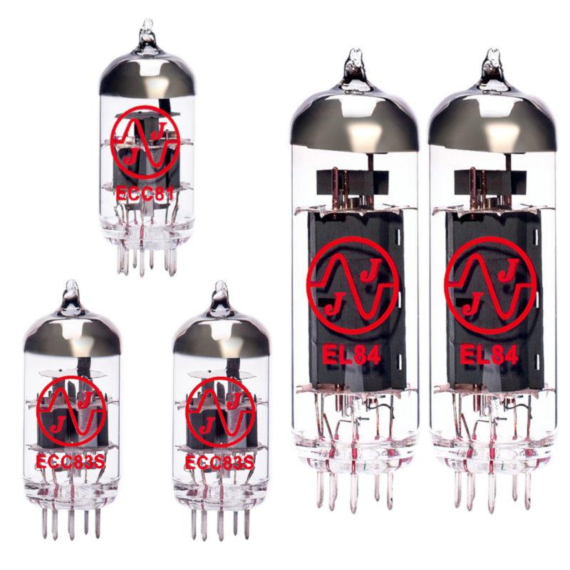 Jeu de lampes de rechange pour Vox V15 (1 x ECC83 1 x équilibrées ECC83 1 x ECC81 2 x appairée EL84)