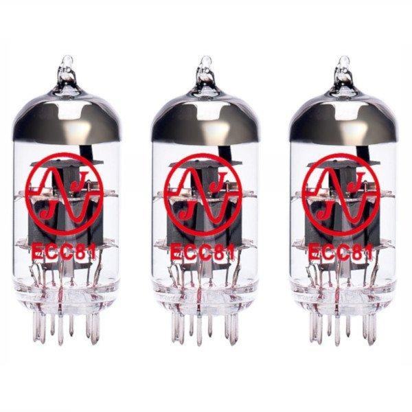 3 X Ecc81 (12at7) Lampes Tubes