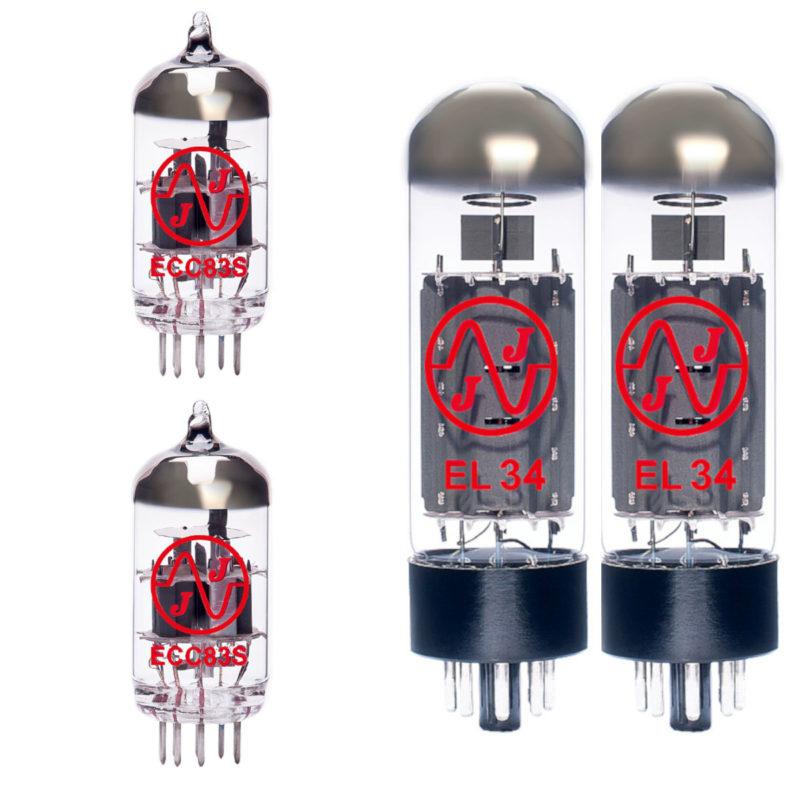 Jeu de lampes de rechange pour Bogner Barcelona (1 x ECC83 1 x équilibrées ECC83 2 x appairée EL34)