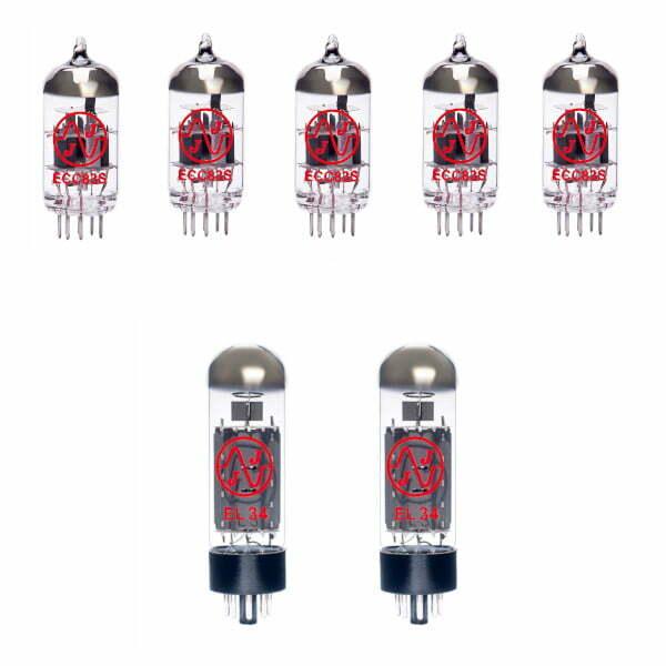 Jeu De Lampes De Rechange Pour Bogner Helios 50w (4 X Ecc83 1 X équilibrées Ecc83 2 X Appairée El34)