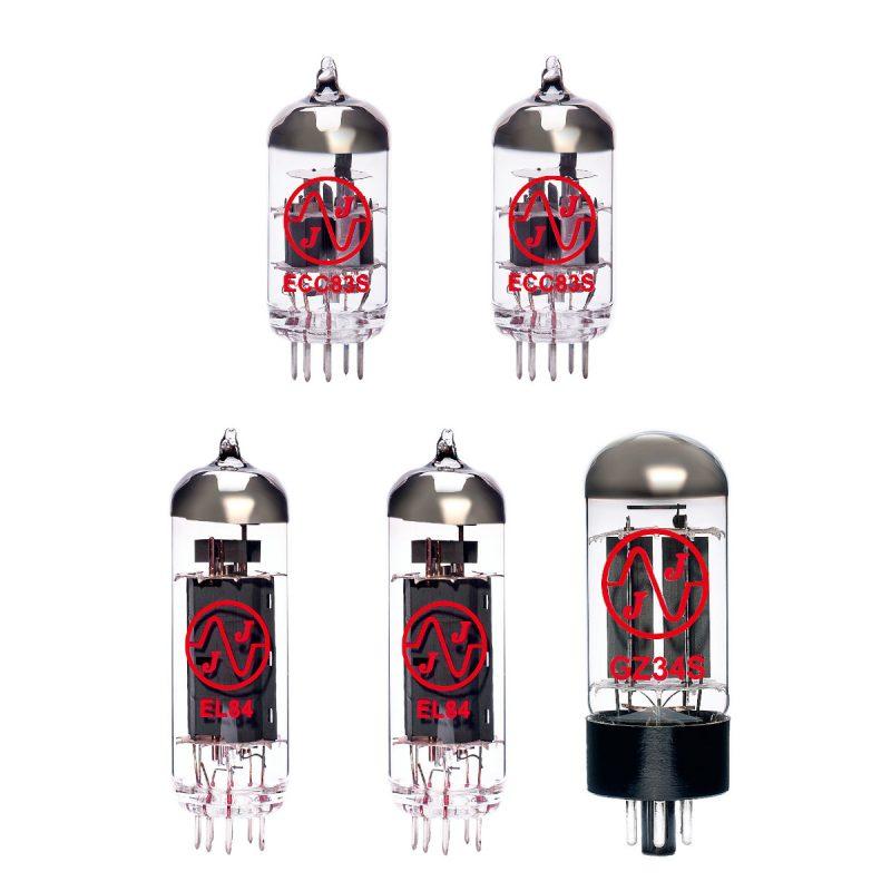 Jeu de lampes de rechange pour Cornell Plexi 18/20 (1 x ECC83 1 x équilibrées ECC83 1 x GZ34 2 x appairée EL84)