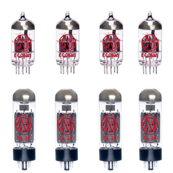 Jeu De Lampes De Rechange Pour Cornford Rk100 (3 X Ecc83 1 X équilibrées Ecc83 4 X Appairée El34)