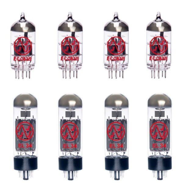Jeu De Lampes De Rechange Pour Kustom Defender V100 (3 X Ecc83 1 X équilibrées Ecc83 4 X Appairée El34)
