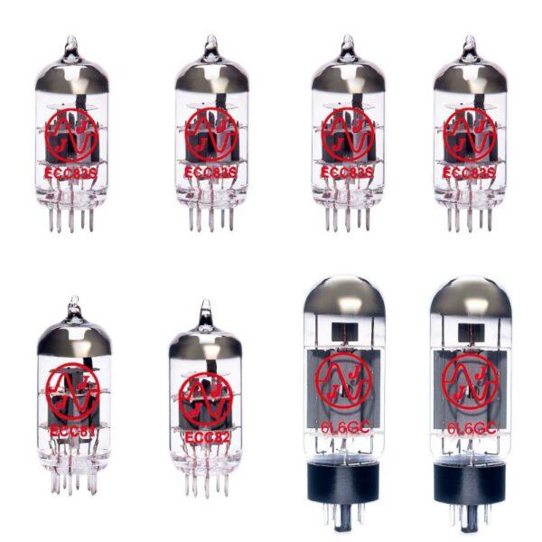 Jeu De Lampes De Rechange Pour Supro 1697r Galaxy (4 X Ecc83 1 X Ecc81 1 X Ecc82 2 X Appairée 6l6gc)
