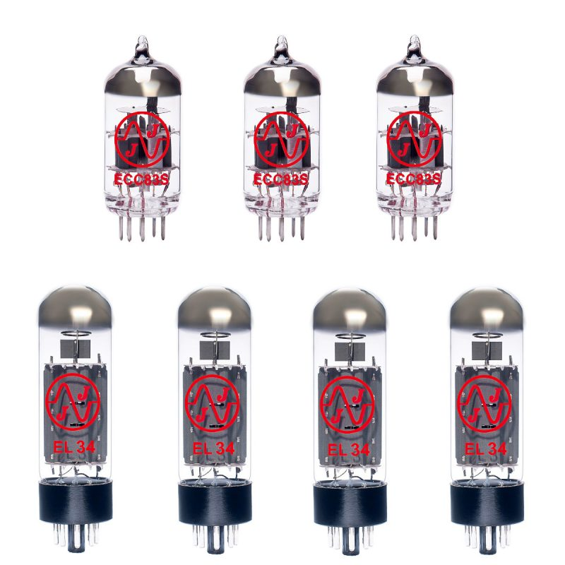 Jeu de lampes de rechange pour Carvin X-60 - EL34 Version (2 x ECC83 1 x équilibrées ECC83 4 x appairée EL34)