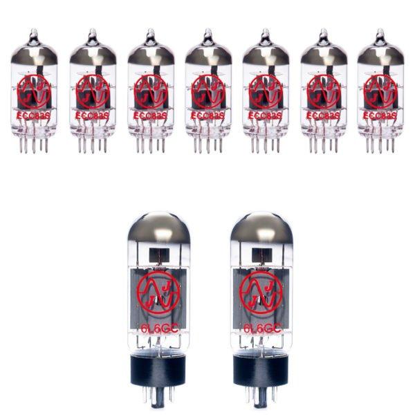 Jeu de lampes de rechange pour EVH 5150 III 50W 6L6 (6 x ecc83 1 x équilibrées ecc83 2 x appairée 6l6gc)
