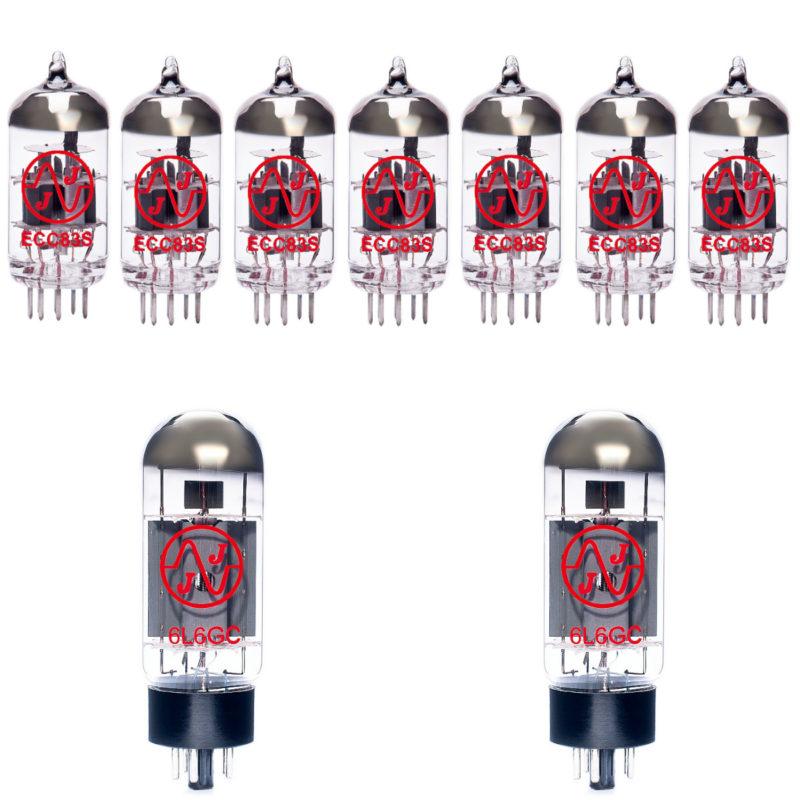 Jeu de lampes de rechange pour EVH 5150 III 50W Combo 6L6 (6 x ECC83 1 x équilibrées ECC83 2 x appairée 6L6GC)