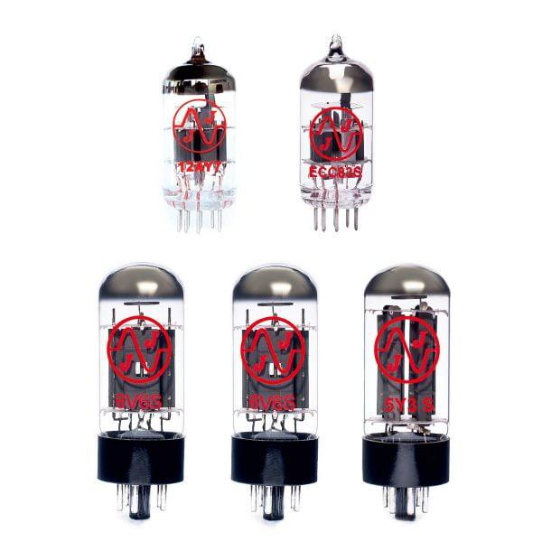Jeu de lampes de rechange pour Fender 57 Deluxe - Faible Gain (1 x 12AY7 1 x équilibrées ECC83 1 x 5Y3S 2 x appairée 6V6S)