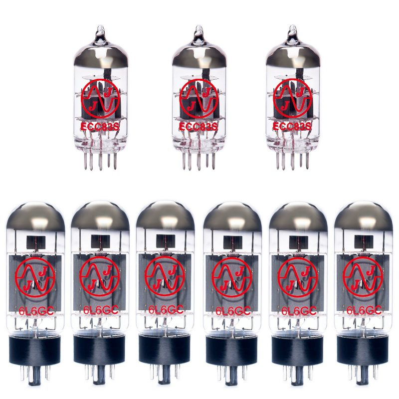 Jeu de lampes de rechange pour Mesa Boogie Buster Bass 200 (2 x ECC83 1 x équilibrées ECC83 6 x appairée 6L6GC 9/Yellow)
