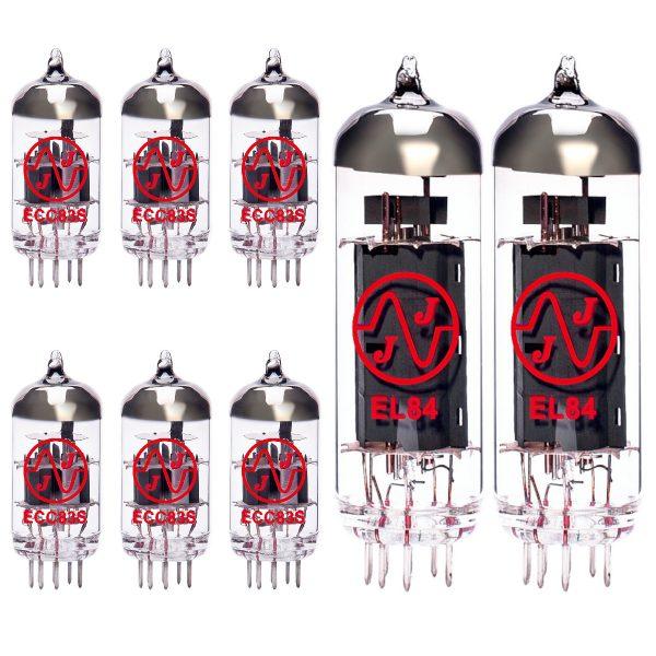 Jeu de lampes de rechange pour Mesa Boogie DC2 (5 x ECC83 1 x équilibrées ECC83 2 x appairée EL84 Green/6)