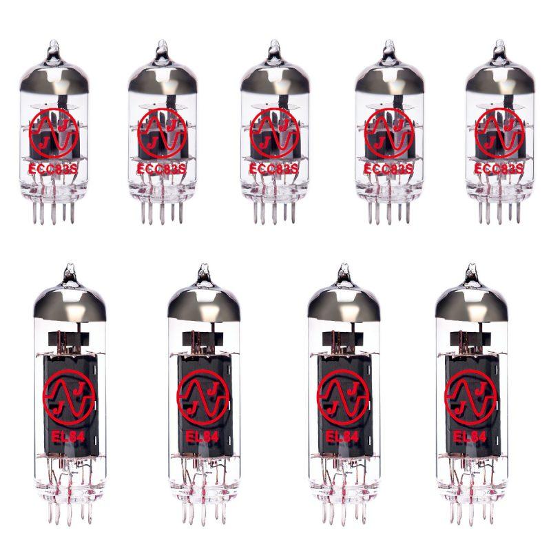 Jeu de lampes de rechange pour Mesa Boogie Nomad 45 (4 x ECC83 1 x équilibrées ECC83 4 x appairée EL84 Green/6)