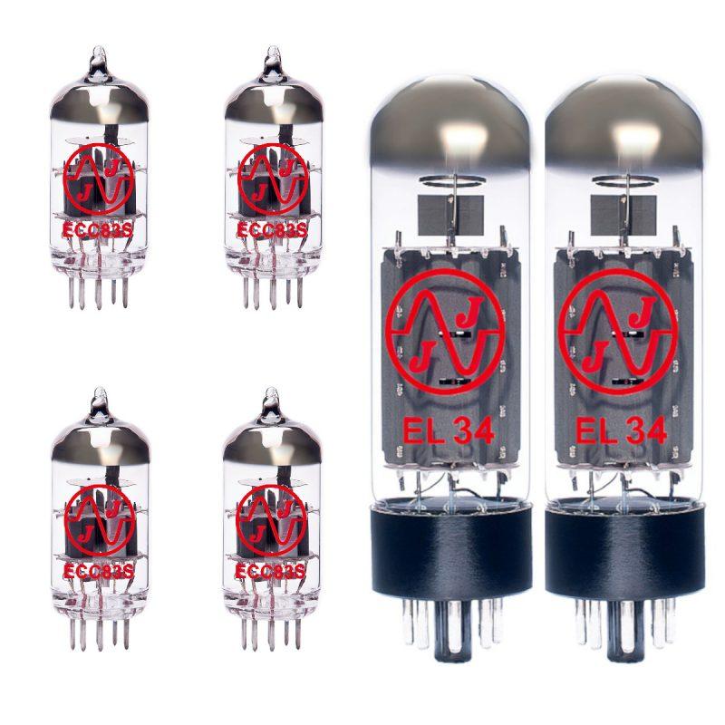 Jeu de JJ lampes de rechange pour Marshall 1923 85th Anniversary (3 x JJ ECC83 1 x JJ équilibrées ECC83 2 x JJ appairée EL34)