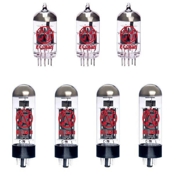 Jeu de JJ lampes de rechange pour Marshall 2150 (2 x JJ ECC83 1 x équilibrées ECC83 4 x appairée JJ EL34 Mark II)