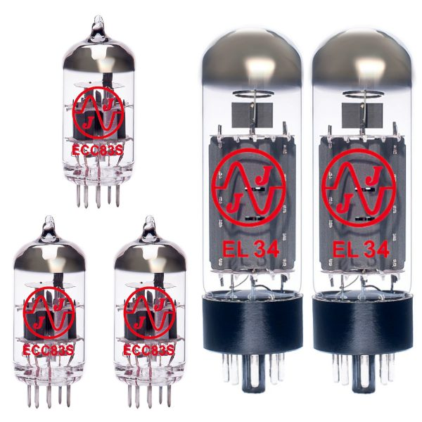 Jeu de JJ lampes de rechange pour Marshall Origin 50 (2 x JJ ECC83 1 x JJ équilibrées ECC83 2 x JJ appairée EL34)