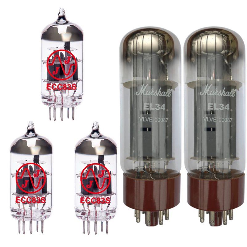 Jeu de Marshall lampes de rechange pour Marshall 1987 Original (2 x JJ ECC83 1 x JJ équilibrées ECC83 2 x Marshall appairée EL34)