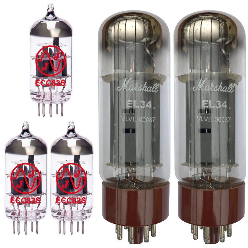 Jeu de Marshall lampes de rechange pour Marshall 1987X Plexi Reissue (2 x JJ ECC83 1 x JJ équilibrées ECC83 2 x Marshall appairée EL34)