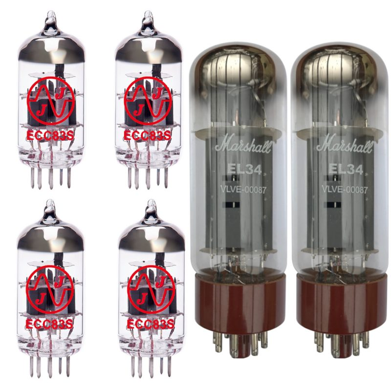 Jeu de Marshall lampes de rechange pour Marshall DSL40C / DSL40CR (3 x JJ ECC83 1 x équilibrées JJ ECC83 2 x appairée MARSHALL EL34)