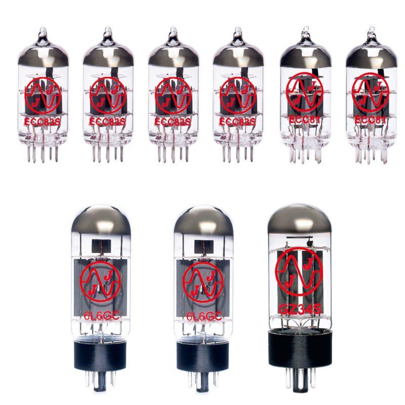 Jeu de lampes de rechange pour Fender 65 Super Reverb Reissue (4 x ECC83 1 x ECC81 1 x équilibrées ECC81 1 x GZ34 2 x appairée 6L6GC)