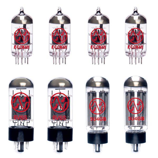 Jeu de lampes de rechange pour Fender EC Twinolux (3 x ECC83 1 x équilibrées ECC83 2 x 5U4GB 2 x appairée 6V6)