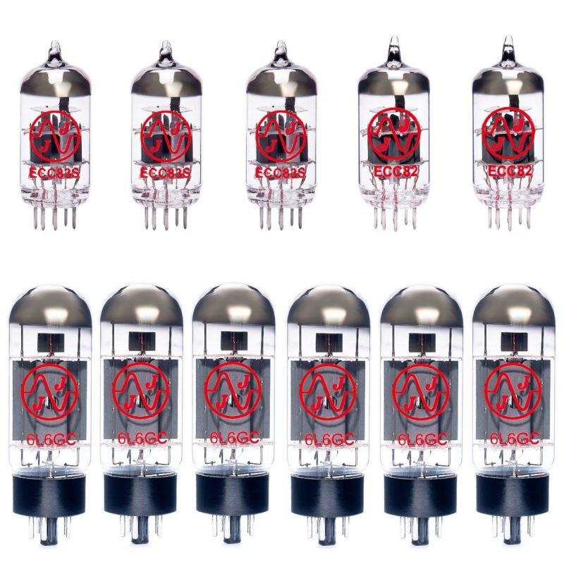 Jeu de lampes de rechange pour Fender Studio Bass (3 x ECC83 1 x ECC82 1 x équilibrées ECC82 6 x appairée 6L6GC)