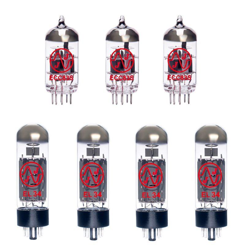 Jeu de JJ lampes de rechange pour Marshall JCM800 Bass Series 100w (2 x JJ ECC83 1 x JJ équilibrées ECC83 4 x JJ appairée EL34)