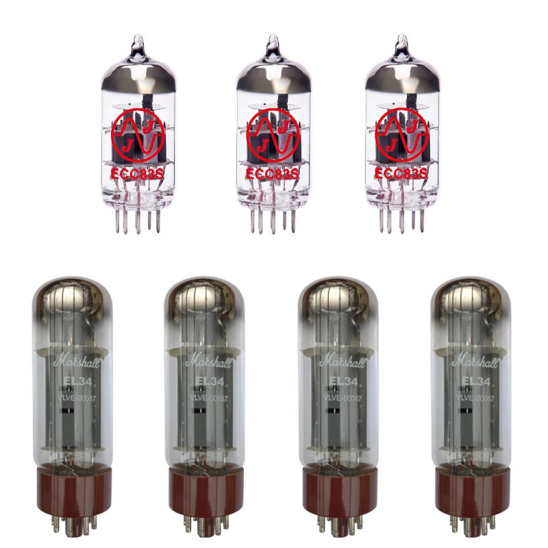 Jeu de Marshall lampes de rechange pour Marshall JCM800 Bass Series 100w (2 x JJ ECC83 1 x JJ équilibrées ECC83 4 x Marshall appairée EL34)