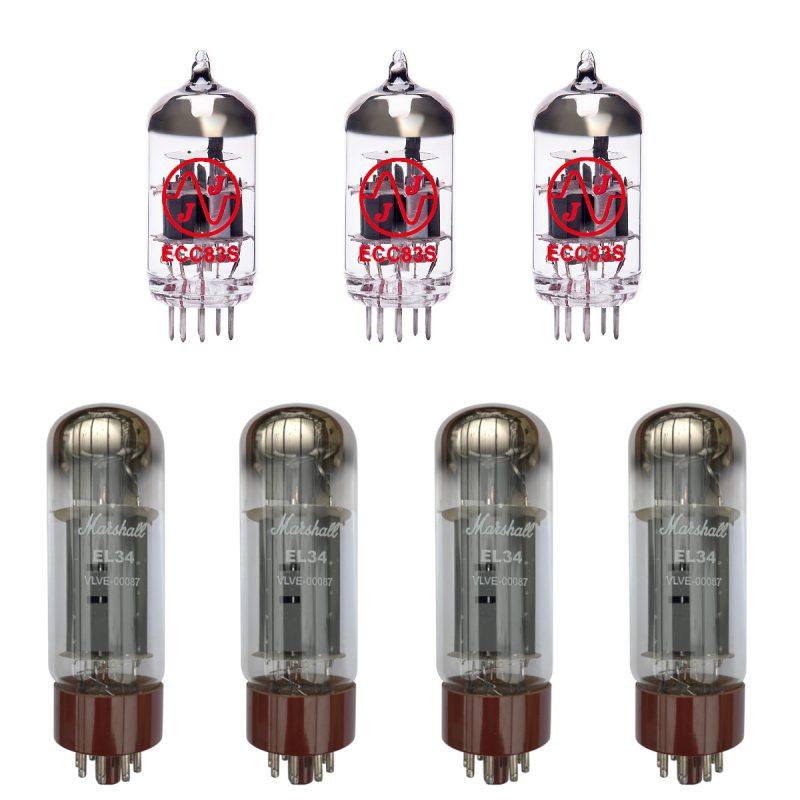 Jeu de Marshall lampes de rechange pour Marshall JCM900 MKIII Hi Gain 2100 (2 x JJ ECC83 1 x JJ équilibrées ECC83 4 x Marshall appairée EL34)