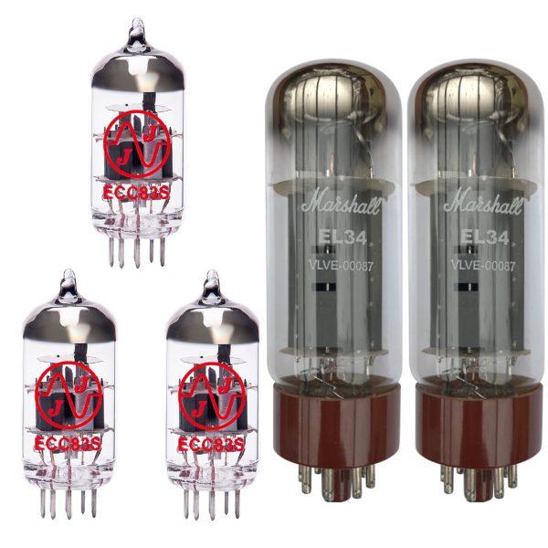 Jeu de Marshall lampes de rechange pour Marshall Origin 50 (2 x JJ ECC83 1 x JJ équilibrées ECC83 2 x Marshall appairée EL34)