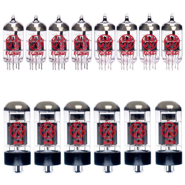 Jeu de lampes de rechange pour Ampeg SVT-VR (3 x ECC83 2 x ECC82 1 x équilibrées ECC83 2 x équilibrées ECC82 6 x Appairée 6550)