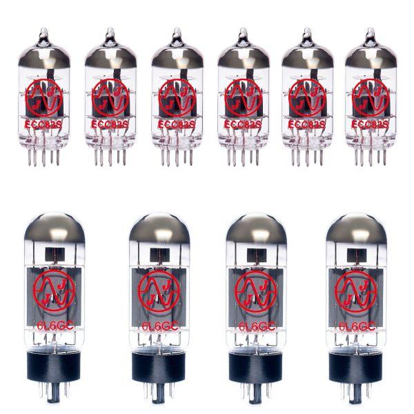 Jeu de lampes de rechange pour Soldano Lucky 13 100W (5 x 12AX7 1 x 12AX7 équilibrée 4 x 6L6GC appairées)